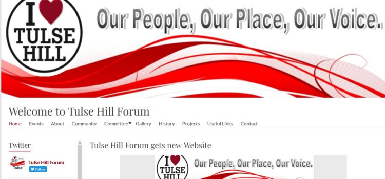Tulse Hill Forum gets new Website
